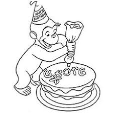 curious george beach coloring pages fun pinterest curious