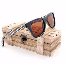 polarized wood sunglasses with layered wooden wayfarer style frame