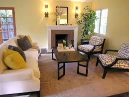 yellow living room furniture house decor picture
