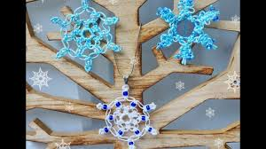 diy macrame tutorial how to make a snowflake decoration for a