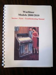 wurlitzer model 2800 jukebox manual u2022 29 99 picclick