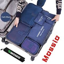 Packing cubes mossio 7 sets waterproof lightweight