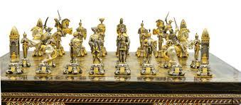 Metal Chess Set by Piero Benzoni Medieval Chess Set Www Chessantiques Com