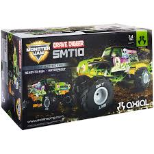 grave digger toy monster truck axial 1 10 smt10 grave digger monster jam truck 4wd rtr