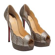christian louboutin silver torsatoe 150 sandals for women level