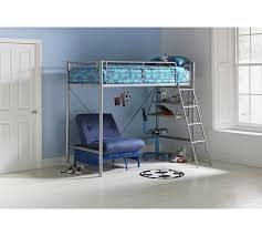 High Sleeper With Desk And Futon Buy Home Sit U0027n U0027 Sleep Metal High Sleeper Frame U0026 Futon Blue At
