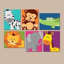 baby schlafzimmer set safari animal wall animal nursery artwork zoo jungle theme
