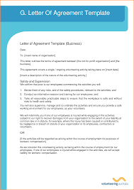 doc 575709 letter of agreement template u2013 letter of agreement