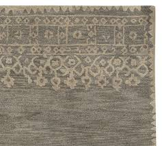 Pottery Barn Rug Pad Desa Bordered Wool Rug Gray Pottery Barn