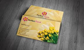 floral business card florist business card template free fg00003