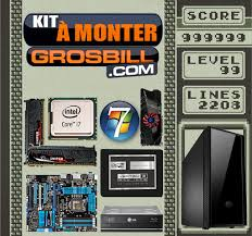 ordinateur de bureau avec windows 7 grosbill kit pc à monter big gamer intel i7 2700k 3 5ghz avec