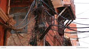 Messy Wires by Infrastructure Shortage Messy Electric Cables Stock Video Footage