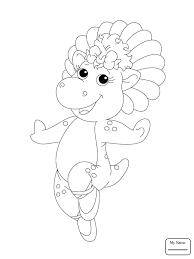 coloring pages kids cartoons barney friends baby pop