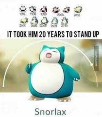 it took snorlax 20 years to stand up internet meme meme pokémon