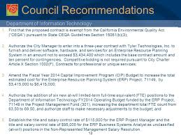Council On Environmental Quality Guidelines Department Of Information Technology Enterprise Resource Planning