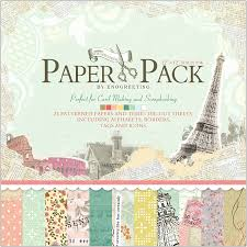 Scrapbook Paper Packs Vintage Eiffel Tower Scrapbook Paper Pack With