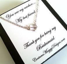 wedding gift for best friend bridesmaid gift sideways anchor necklace wedding gift bridal