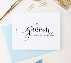 wedding gift note to my groom on our wedding day card to my groom card wedding
