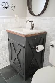 do it yourself bathroom vanity diy farmhouse bathroom vanity shanty 2 chic