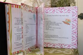 bridal shower recipe book with recipes with all the guests