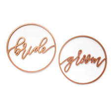 Bride And Groom Chair Signs Copper Bride And Groom Chair Sign Borrow Table