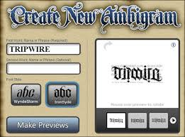 from tripwire magazine dot com an article on 50 ambigram makers