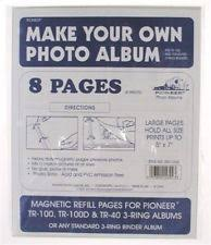 pioneer album refills pioneer srf 1200 magnetic refill photo album pages 4 sheets 8