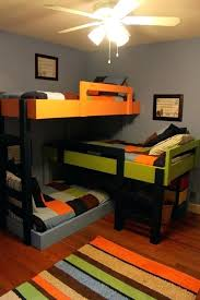 Three Person Bunk Bed 3 Bunk Beds With Stairs Home Decor 3 Bunk Bed Plans 3 Bunk