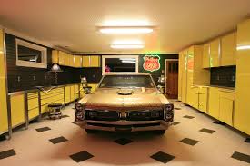 new best garage floor ideas with cool garage shelv 1635x1844 artistic cool garage plans and cool small garage design ideas in traditional style using yellow garage