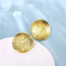 big jhumka gold earrings simple fashion statement jewelry big circle earring gold colour