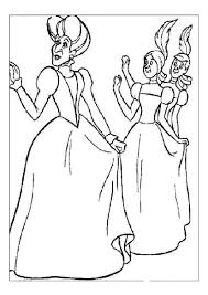 cinderella u0027s step mother and step sisters free coloring pages