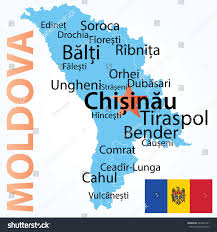 Moldova Map Vector Map Moldova Largest Cities Carefully Stock Vector 249027421