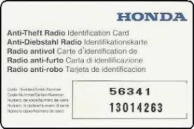 how to retrieve radio code for honda accord car radio code calculator