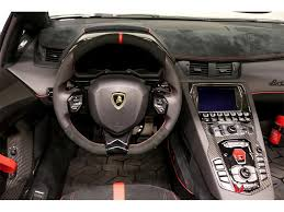 lamborghini inside 2016 2017 lamborghini aventador lp 750 4 sv roadster for sale in