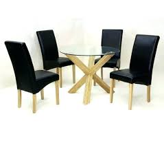 small glass kitchen table dining set leather chairs glass table and leather chairs small glass