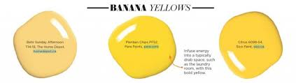 paint palette banana yellows interiors by color