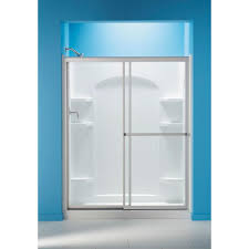 Sterling Bathroom Fixtures by Sterling 59 3 8 In X 70 1 4 In Framed Sliding Shower Door In