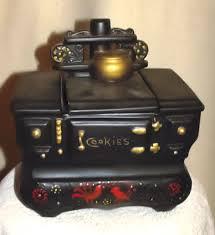 mccoy black cook stove collector cookie jar collector cookie jars