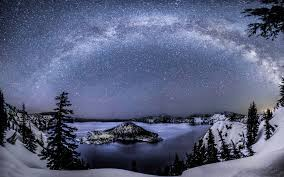 milky way over crater lake today u0027s image earthsky