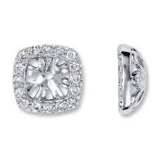 diamond earring jackets jared diamond earring jackets 1 4 ct tw cut 14k white gold