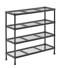 Metal Wire Shelving by Interior Black Steel Wire Shelving Units With 4 Shelf For