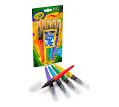 paint brush pens classic 5 ct crayola