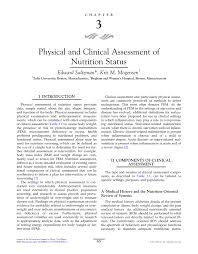 physical and clinical assessment of nutrition status pdf download