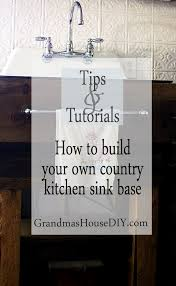 how to build your own rustic kitchen sink base country diy