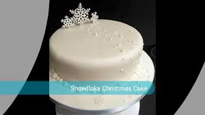 Christmas Cake Decorations Ideas Uk by Snow Christmas Cake Youtube