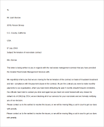 sample contract termination letter 8 examples in word pdf