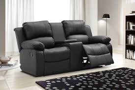 generic zoey bonded leather reclining loveseat with center