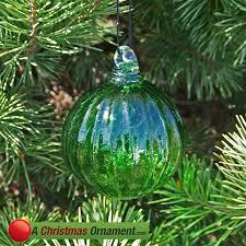 ornaments made in usa lime green glass optic