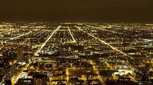 chicago traffic city lights time lapse