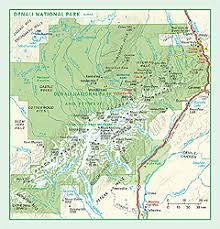 denali national park map denali national park wall map by geonova